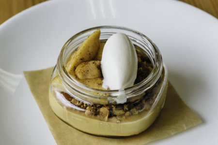 Heartwood Provisions Seattle Restaurant | Caramel Panna Cotta Dessert