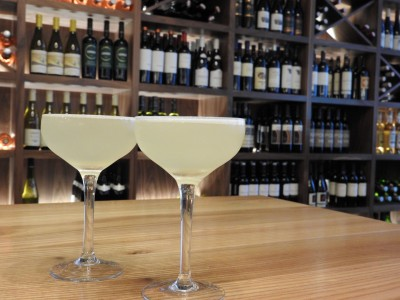 Oola Vodka with lemon and Absinthe topped with Moscato Sparkling Wine | Heartwood Provisions